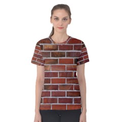COLORFUL BRICK WALL Women s Cotton Tee