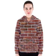 COLORFUL BRICK WALL Women s Zipper Hoodies