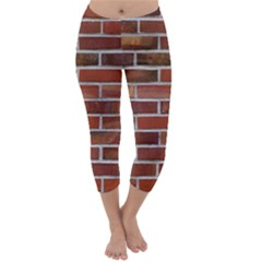 COLORFUL BRICK WALL Capri Winter Leggings