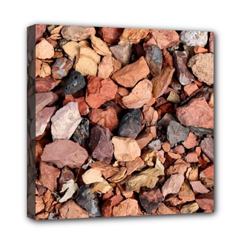 COLORED ROCKS Mini Canvas 8  x 8