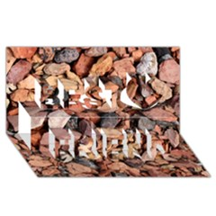 COLORED ROCKS Best Friends 3D Greeting Card (8x4)