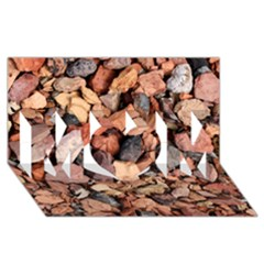 COLORED ROCKS MOM 3D Greeting Card (8x4)