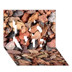 Colored Rocks Love 3d Greeting Card (7x5)