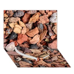 COLORED ROCKS Heart Bottom 3D Greeting Card (7x5)