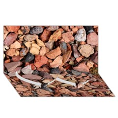 Colored Rocks Twin Heart Bottom 3d Greeting Card (8x4)
