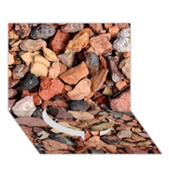 Colored Rocks Circle Bottom 3d Greeting Card (7x5)