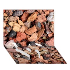 COLORED ROCKS LOVE Bottom 3D Greeting Card (7x5)