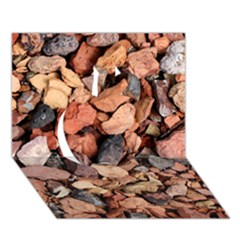 COLORED ROCKS Apple 3D Greeting Card (7x5)
