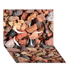 COLORED ROCKS Clover 3D Greeting Card (7x5)