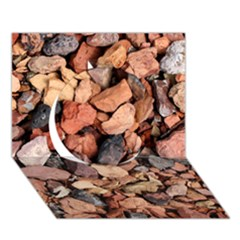 Colored Rocks Circle 3d Greeting Card (7x5)