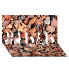 COLORED ROCKS #1 DAD 3D Greeting Card (8x4)