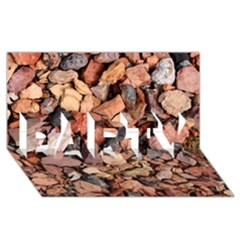 COLORED ROCKS PARTY 3D Greeting Card (8x4)