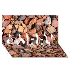 Colored Rocks Sorry 3d Greeting Card (8x4)