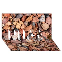 Colored Rocks Hugs 3d Greeting Card (8x4)