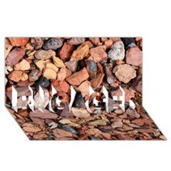 Colored Rocks Engaged 3d Greeting Card (8x4)