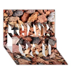 Colored Rocks Thank You 3d Greeting Card (7x5)