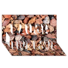 Colored Rocks Laugh Live Love 3d Greeting Card (8x4)