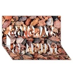 COLORED ROCKS Congrats Graduate 3D Greeting Card (8x4)
