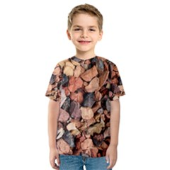 COLORED ROCKS Kid s Sport Mesh Tees