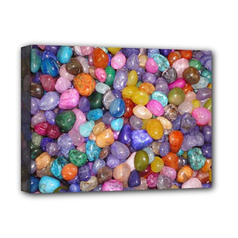 COLORED PEBBLES Deluxe Canvas 16  x 12