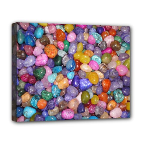 COLORED PEBBLES Deluxe Canvas 20  x 16