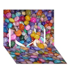COLORED PEBBLES I Love You 3D Greeting Card (7x5)