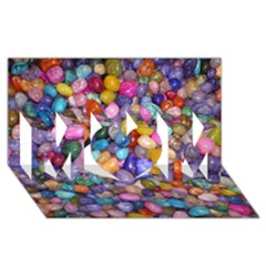 COLORED PEBBLES MOM 3D Greeting Card (8x4)