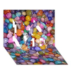 COLORED PEBBLES LOVE 3D Greeting Card (7x5)