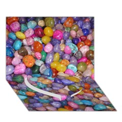 COLORED PEBBLES Heart Bottom 3D Greeting Card (7x5)