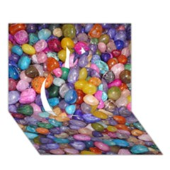 COLORED PEBBLES Apple 3D Greeting Card (7x5)