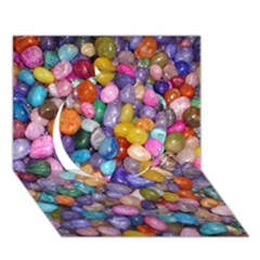 Colored Pebbles Circle 3d Greeting Card (7x5)