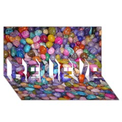 Colored Pebbles Believe 3d Greeting Card (8x4)