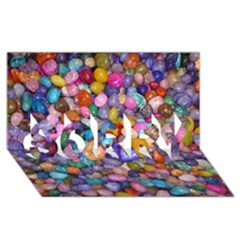 COLORED PEBBLES SORRY 3D Greeting Card (8x4)