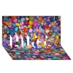 COLORED PEBBLES HUGS 3D Greeting Card (8x4)