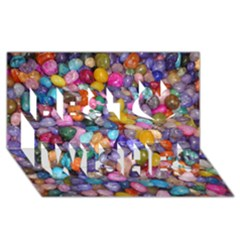 Colored Pebbles Best Wish 3d Greeting Card (8x4)
