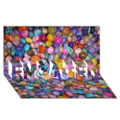 COLORED PEBBLES ENGAGED 3D Greeting Card (8x4)