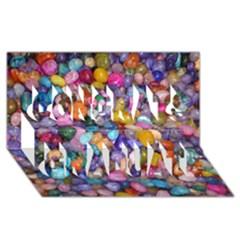 Colored Pebbles Congrats Graduate 3d Greeting Card (8x4)