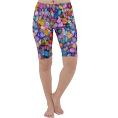 COLORED PEBBLES Cropped Leggings