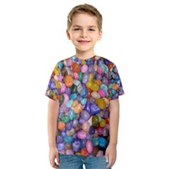 COLORED PEBBLES Kid s Sport Mesh Tees