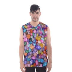 Colored Pebbles Men s Basketball Tank Top
