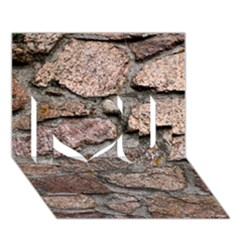 Cemented Rocks I Love You 3d Greeting Card (7x5)