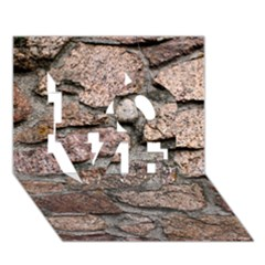 CEMENTED ROCKS LOVE 3D Greeting Card (7x5)