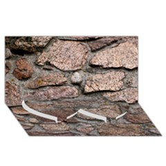 CEMENTED ROCKS Twin Heart Bottom 3D Greeting Card (8x4)