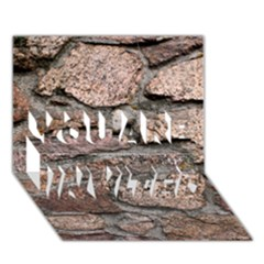 Cemented Rocks You Are Invited 3d Greeting Card (7x5)