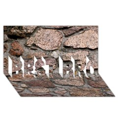 Cemented Rocks Best Bro 3d Greeting Card (8x4)