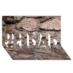 CEMENTED ROCKS #1 DAD 3D Greeting Card (8x4)