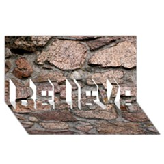 Cemented Rocks Believe 3d Greeting Card (8x4)