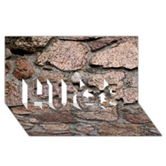 CEMENTED ROCKS HUGS 3D Greeting Card (8x4)