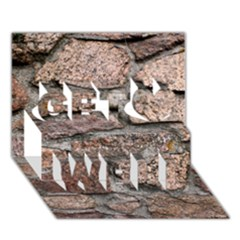 Cemented Rocks Get Well 3d Greeting Card (7x5)