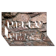 CEMENTED ROCKS Merry Xmas 3D Greeting Card (8x4)